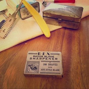 Vtg Rex Razor Blade Sharpener Stone/ original EUC